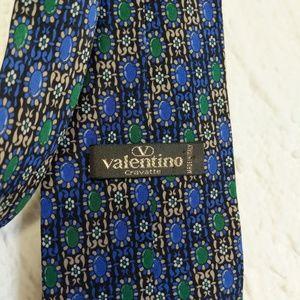 Valentino tie. vintage silk hand made tie